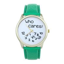 Roman 13 Color Hot Sale Fashion Casual Men Women Who Cares Leather Casual Watch Analog Quartz Wrist Watch relogio feminino