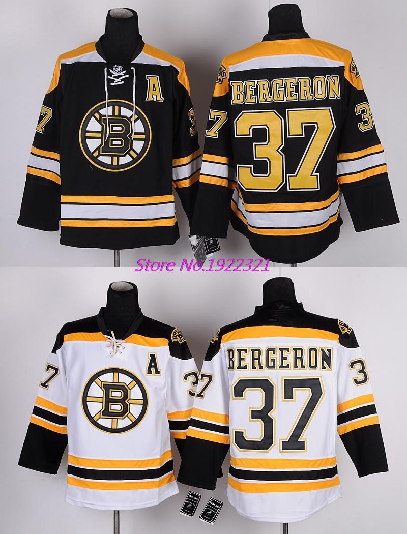 2015 New 37 Boston Bruins Patrice Bergeron Jersey Cheap Authentic Hockey Jerseys Winter Patrice Bergeron Mens Stitched Jerseys