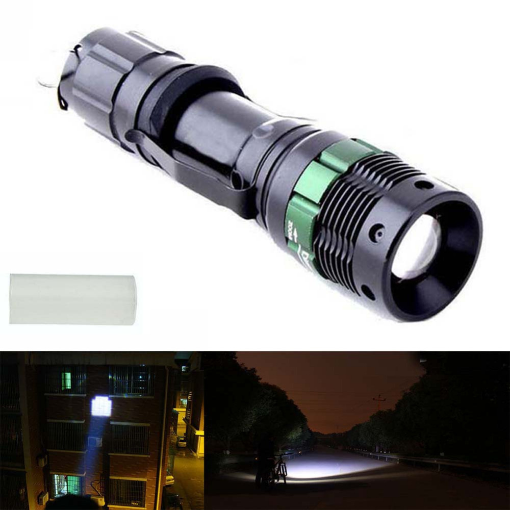 3000 Lumen Zoomable CREE XM-L Q5 LED Flashlight Torch Zoom Lamp Light Black(China (Mainland))