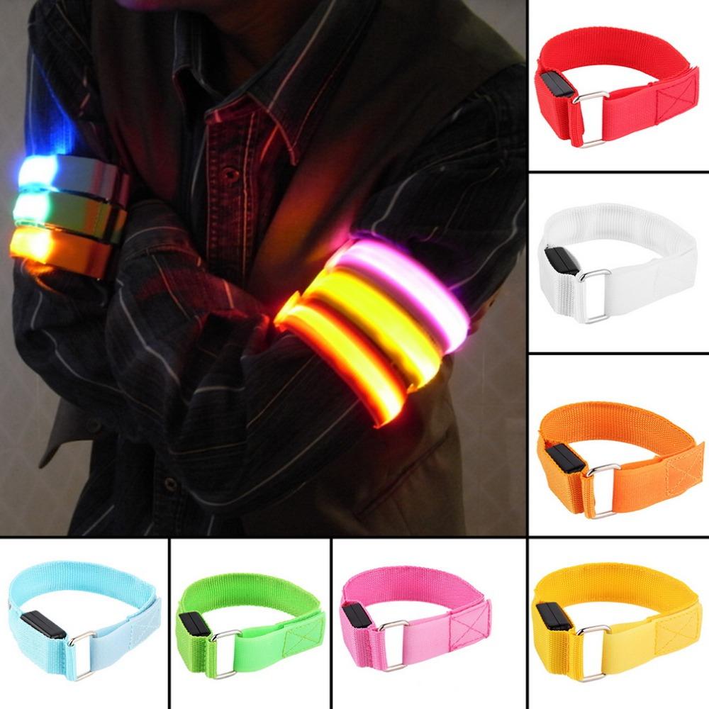 LED Arm bands Lighting Armbands Fashion Leg Safety Bands for Cycling/Skating/Party/Shooting 7 Colors free shipping(China (Mainland))