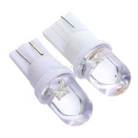 Best Price 10pcs/lot White 10pcs/lot T10 W5W 168 194 501 1 LED Car Auto Wedge Light Side Dashboard Number Plate Lamp Bulb DC12V