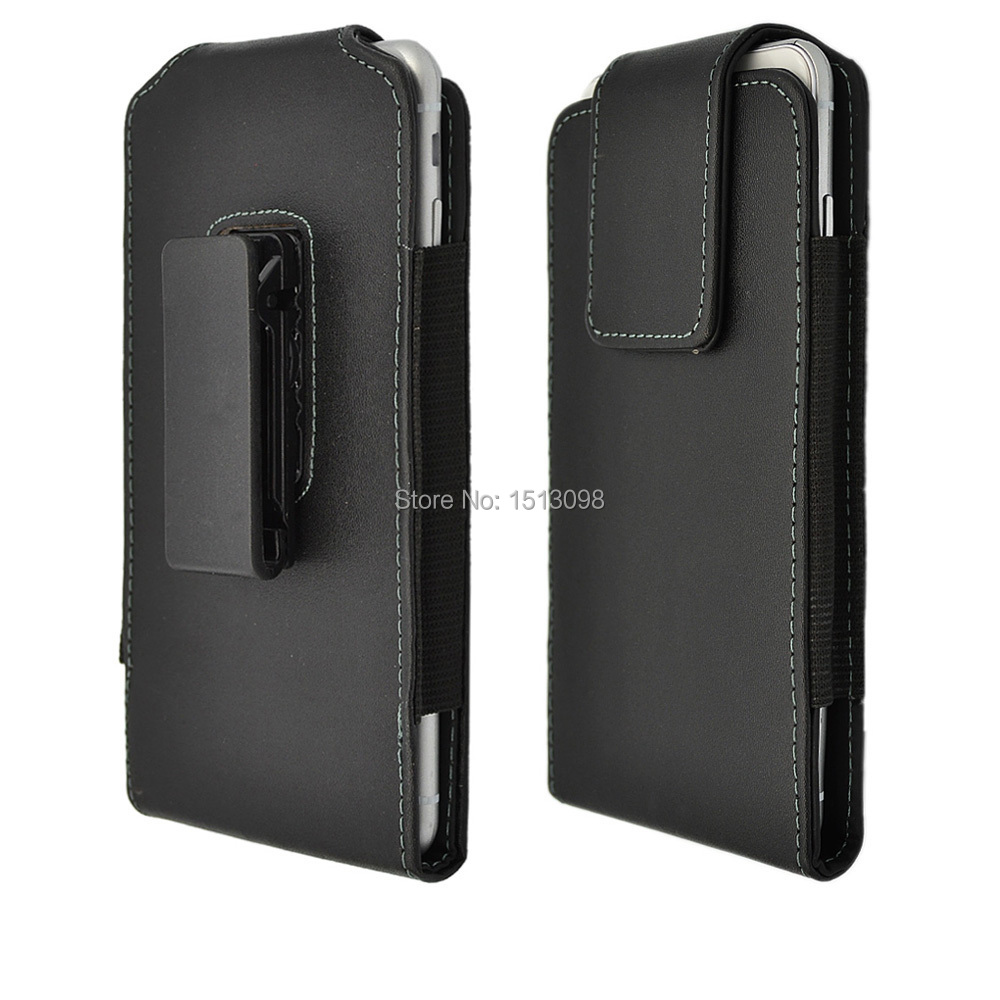 Faux Leather Case Pouch Vertical Holster with Rotating Belt Clip for For Apple iphone 6 4.7,Samsung S4,S5 and other 5 inch phone(China (Mainland))