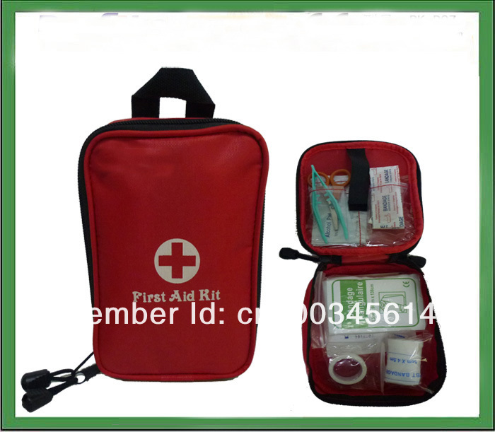 Free shipping portable military first aid kit/military survival kit,CE,FDA,ISO13485 APPROVED(24pcs contents)(China (Mainland))