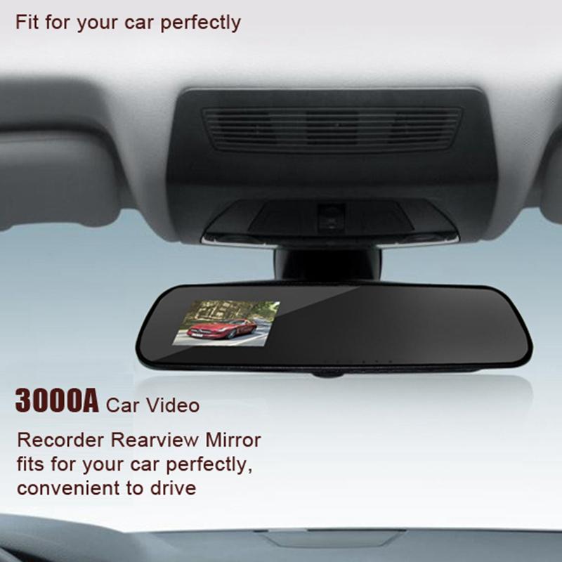 Car Rearview Mirror Car Double Camera Video Recorder Car DVR Dual lens Full HD 1080P Camcorder Dash Cam G-Senor Night Vision