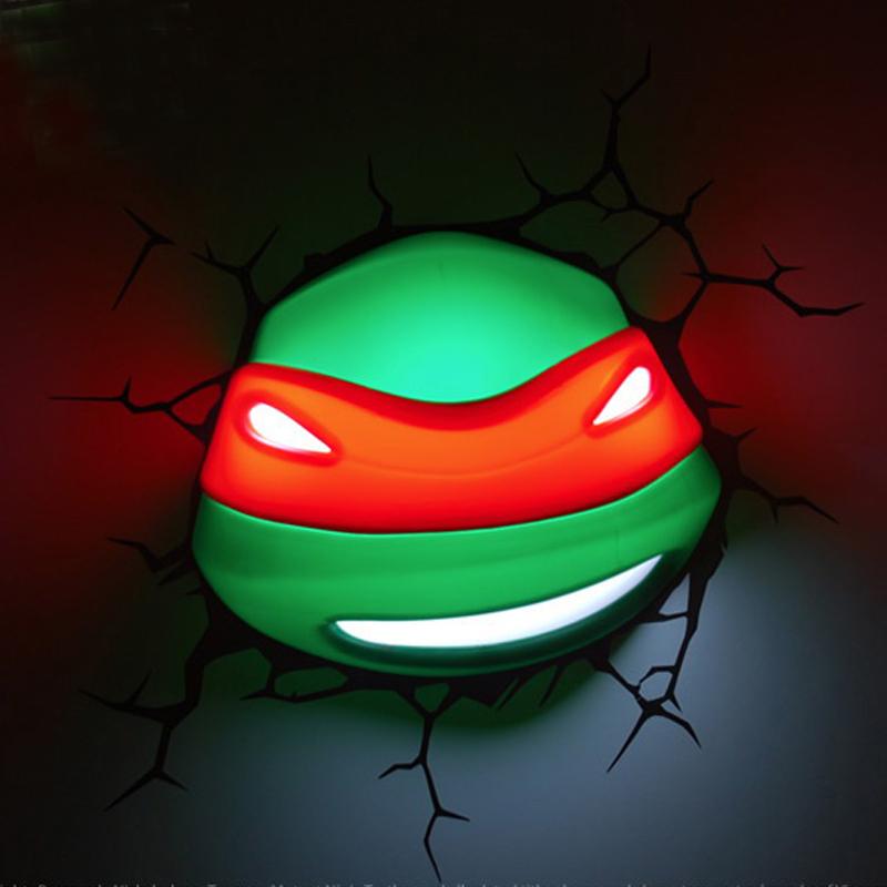 Marvel Teenage Mutant Ninja Turtles Raphael 3d Wall Light