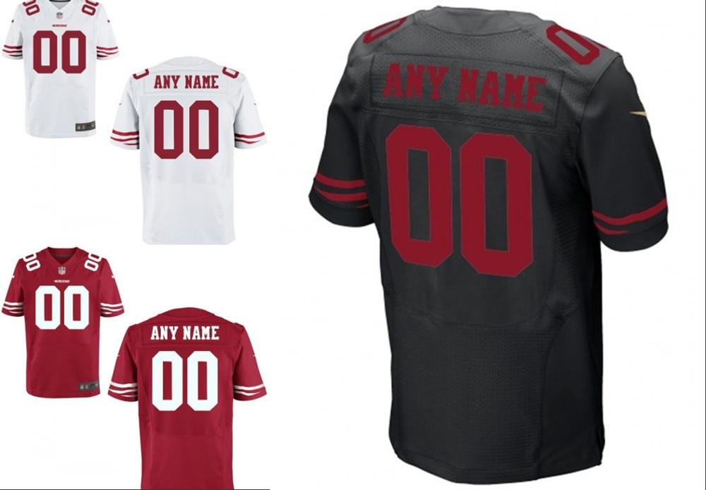100% stitched San Francisco 49ers Personalized Embroidery Logos Customized Any Name And Number Men Women youth size S to 3XL(China (Mainland))
