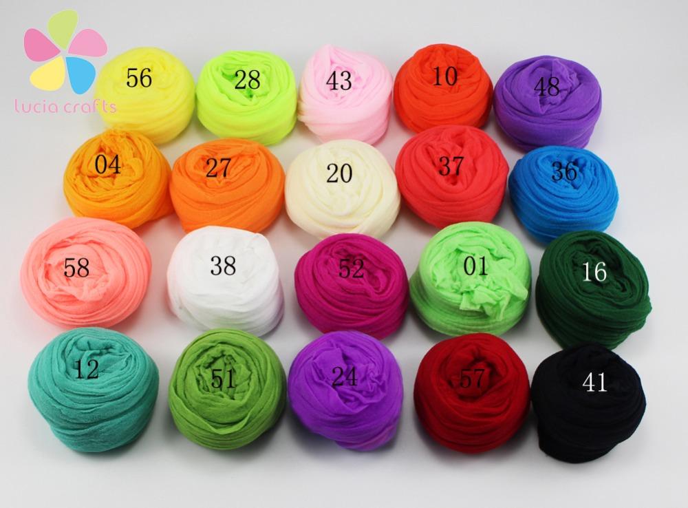 2.5m Multicolor nylon stocking flower material handmade accessory (6pcs/Lot) D086001 (2)(China (Mainland))