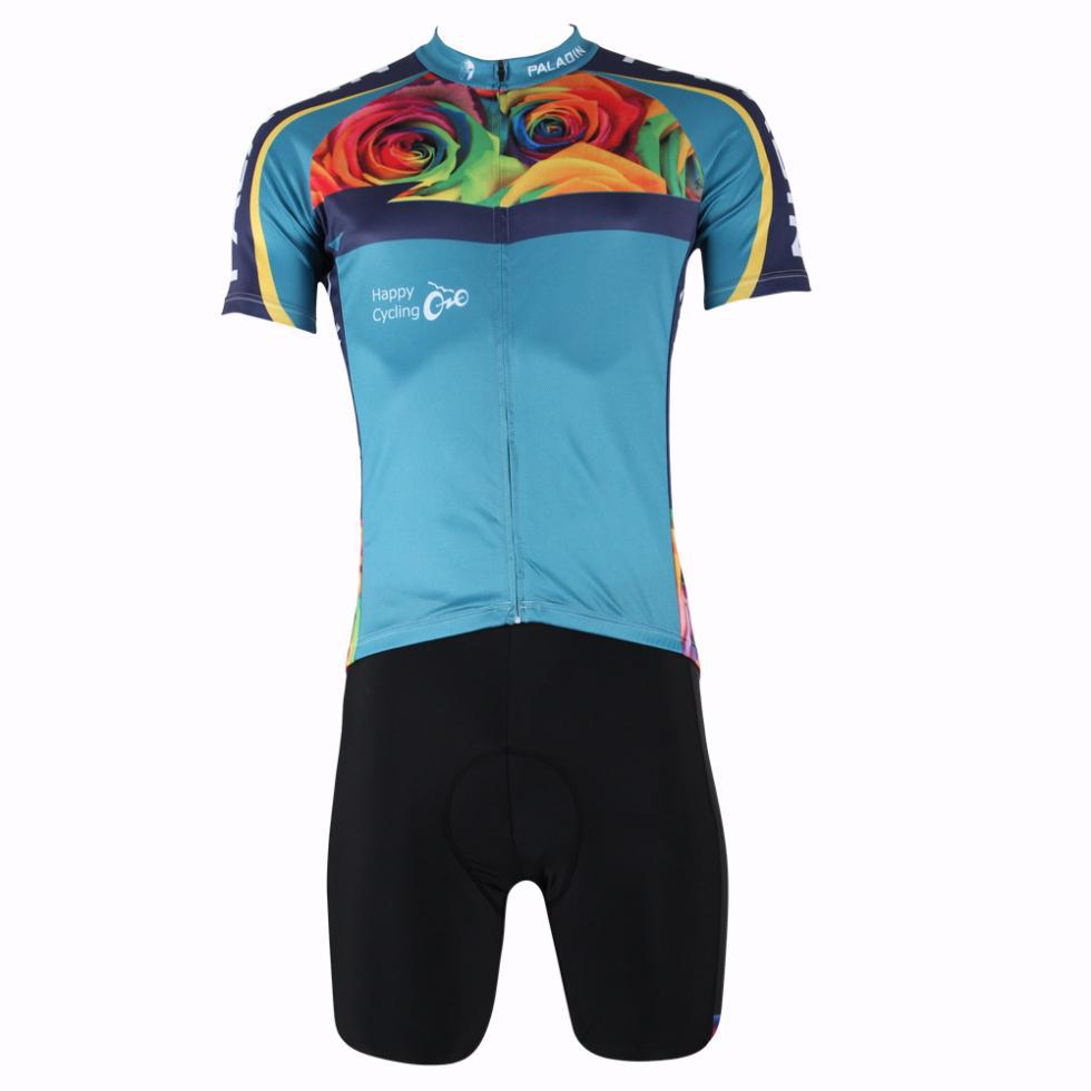 NEW 2014 Cycling Jersey Rose Short Sleeve Bicycle Jersey And Shorts Bike Wear Set Cycling Clothing S ~XXXL Free Shipping(China (Mainland))