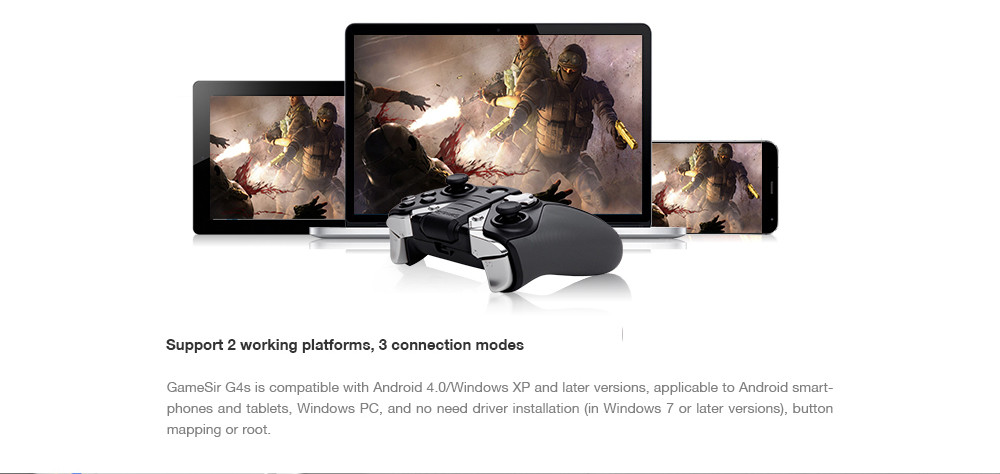 image for GameSir G4s 2.4Ghz Wireless Bluetooth Gamepad Controller For Android T