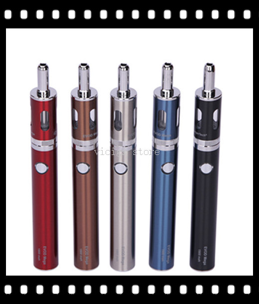 Kangertech EVOD MEGA Starter Kits 1900MAH battery 2 5ML dual coil atomizer original evod mega kit