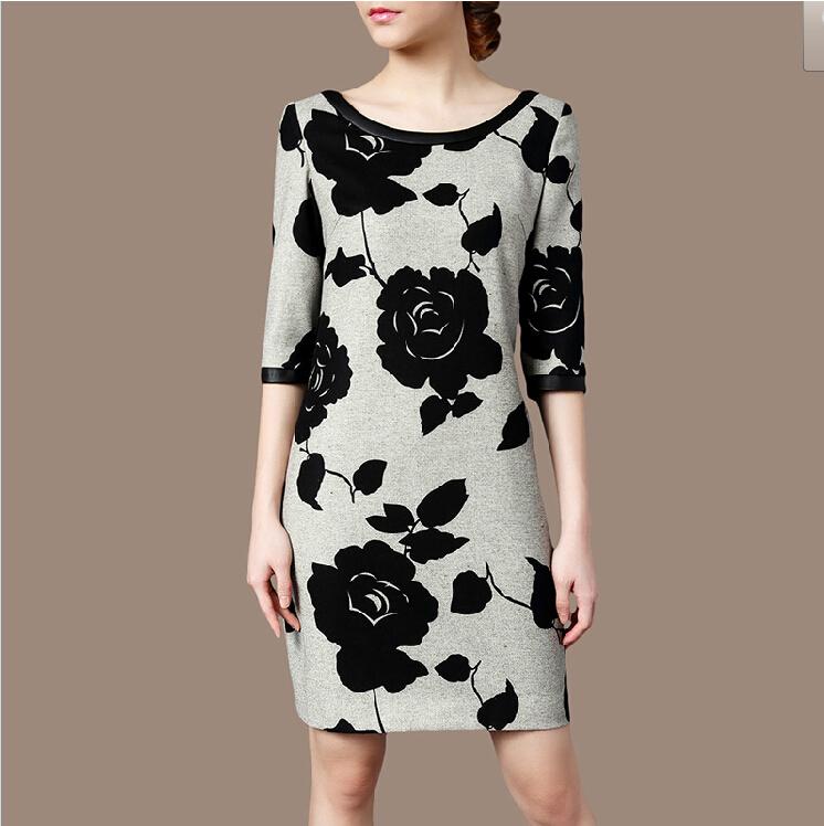 New Women Autumn Dress 2015 Vintage Floral Bodycon Dress Desigual Robe Femme Vestidos Plus Size Vestido De Festa Casual Dresses