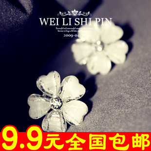 15$free shipping 2106 star flower gem earrings love stud earring