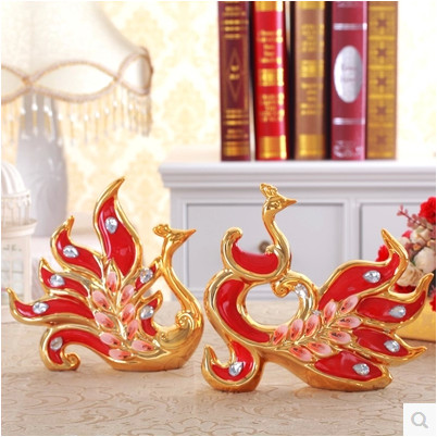 Ceramic peacock furnishing articles home & garden decoration furnishing articles Grade ceramic Home Decoration new Year's gift(China (Mainland))