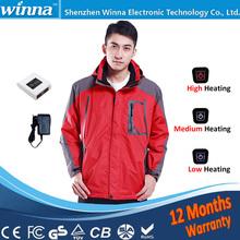7.4V 9V 12V Outdoor Sports & Fun Men Winter Overcoat Thermal Jacket Heating Clothes