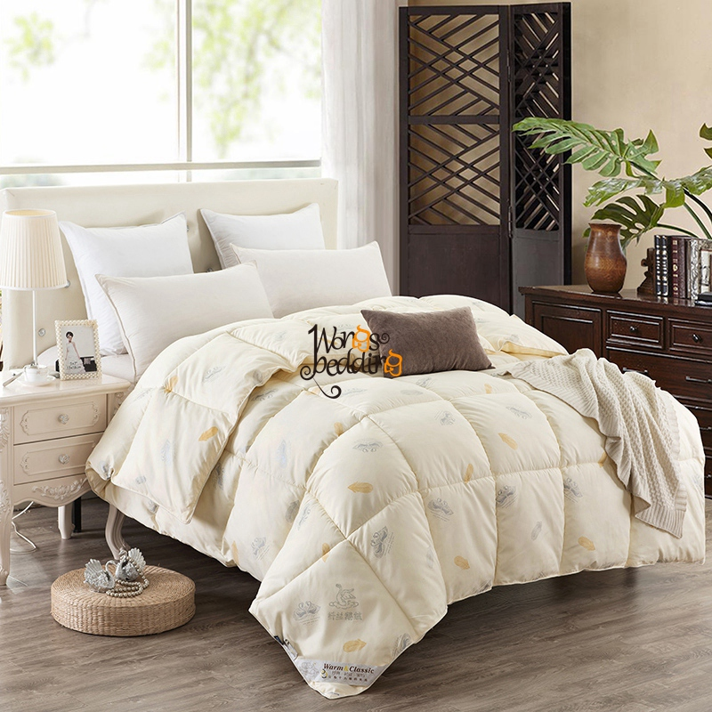 Hot Sales Goose Down Winter White Quilt Comforter Duvet High Quality Quilt Full Queen King Size Free Fast Shipping(China (Mainland))