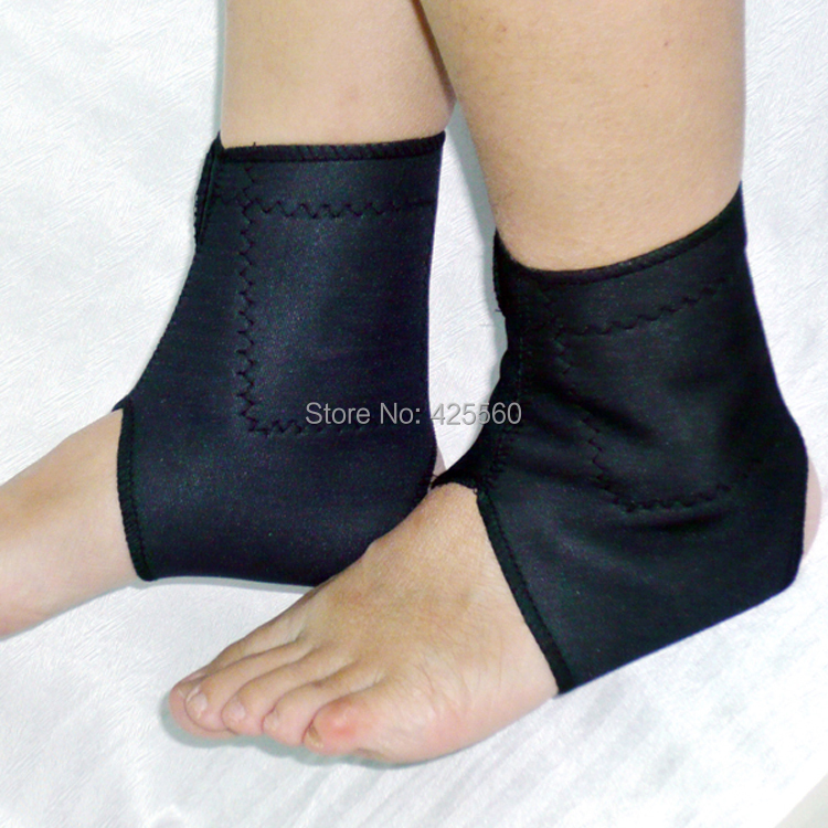 2 Pairs Tourmaline Ankle Heating Magnetic Therapy Massage Ankle Belt For Keep Warm & Relieve Ankle Pain(China (Mainland))