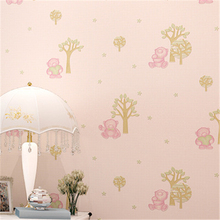 beibehang papel de parede 3d non woven wall paper home decor cartoon Cubs bedroom wall paper for children's room contact paper(China (Mainland))