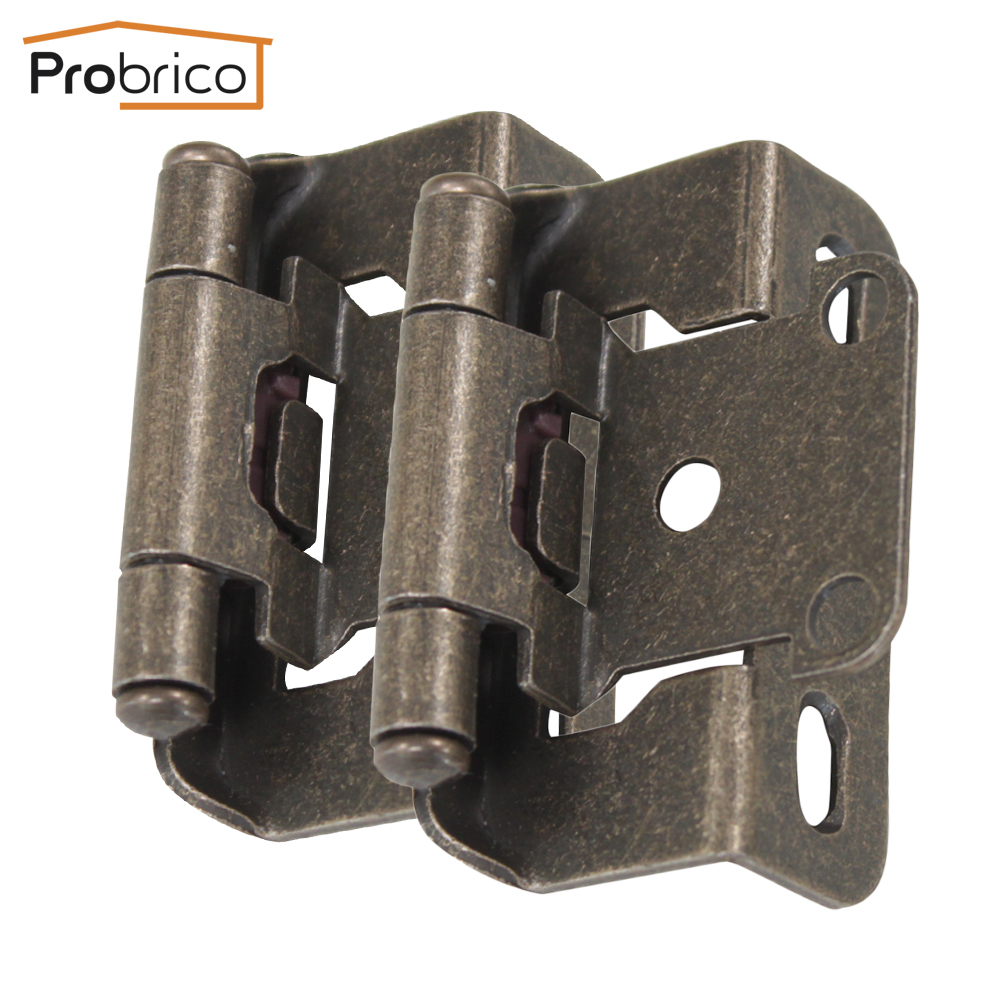 Probrico 20 Pair Self Close Kitchen Cabinet Hinge Antique Bronze CH196AB Partial Wrap 1/2-Inch Overlay Furniture Cupboard Hinge(China (Mainland))