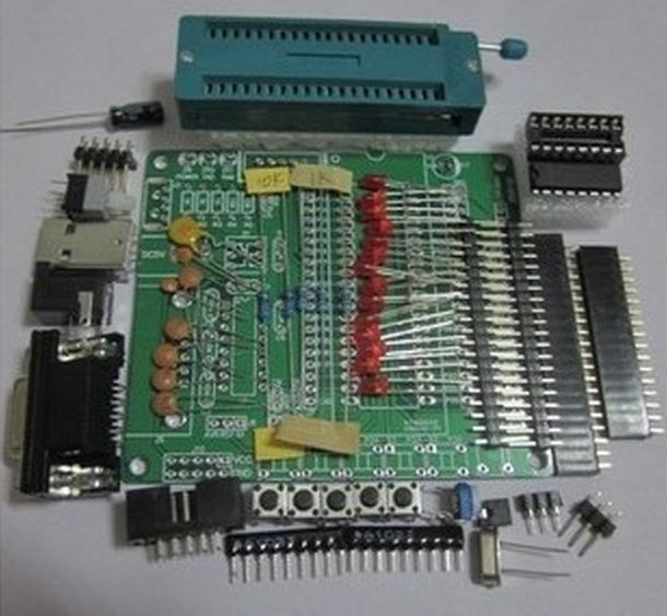 DIY learning board suite suits bulk, 51 / AVR microcontroller development board board STC89C52 study(China (Mainland))