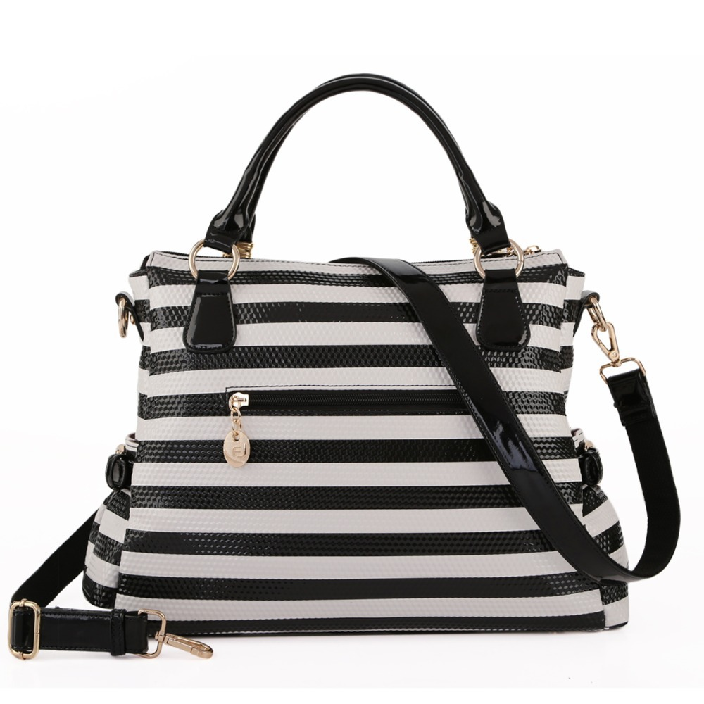 Our Black And White Striped tote bags are great for carrying around your school & office work, or other shopping purchases. Shop our designs today!