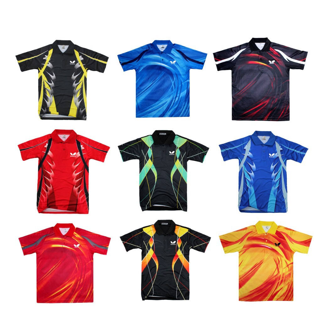 New Arrived 2015 NEW Butterfly TENERGY Table Tennis Shirt Men / Table Tennis Jersey / Ping Pong shirt / Table Tennis Clothes(China (Mainland))