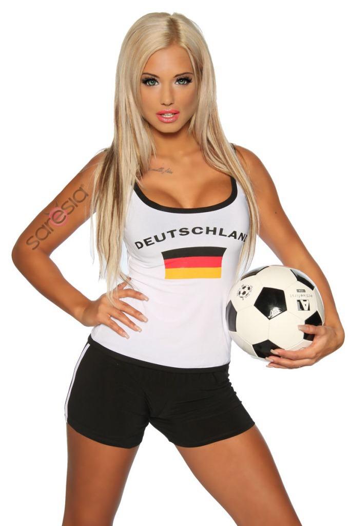 Free shipping 2014 Best sale German Football baby cheerleading Sexy costume fashion slim Women Show vest shorts Clothing(China (Mainland))