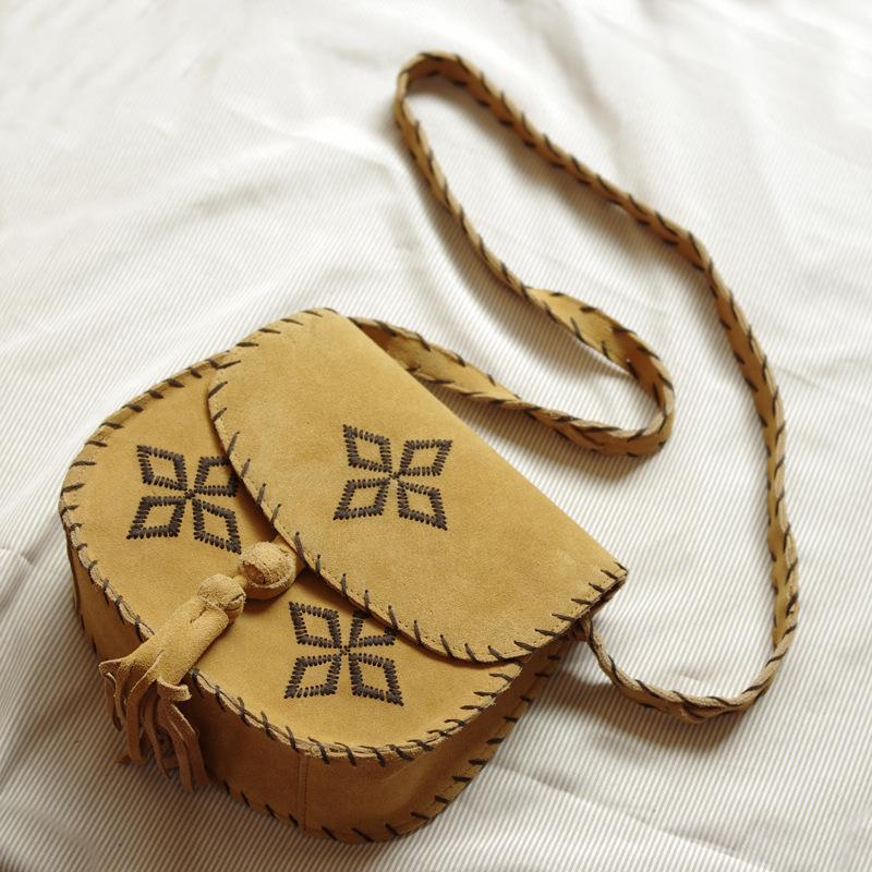 Genuine leather shoulder bag women genuine women leather handbag vintage shoulder bag embroidery messenger bag fashion bag(China (Mainland))