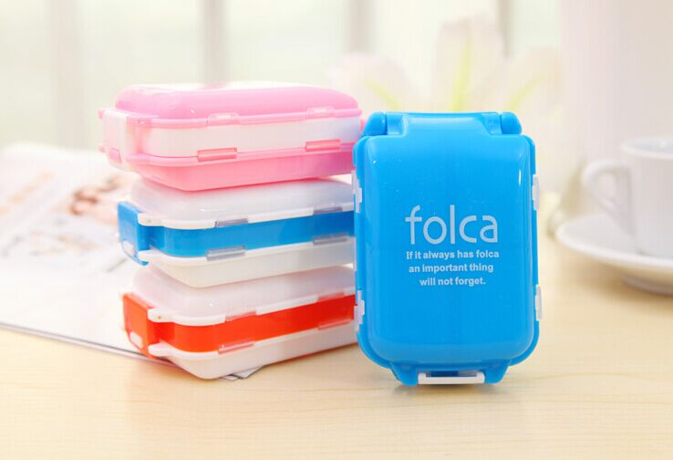 Home and Outdoor 3 Layers Foldable Small pill cases Travel Medical Storage Box random color(China (Mainland))