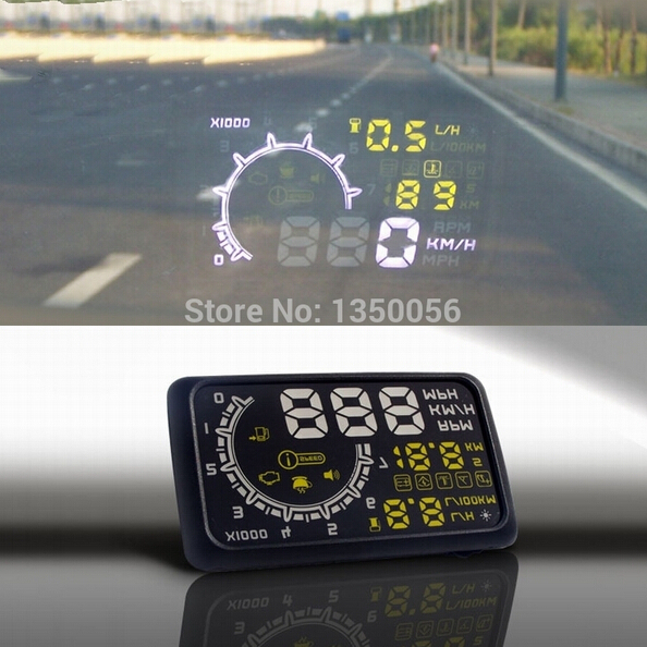 W02 Car HUD Projector Head Up Display OBD II HUD car styling 5.5 Inch Comprehensive Display car alarm system car detector New<br><br>Aliexpress