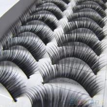 Latest 10 Pairs Makeup Handmade Natural Thick False Eyelashes Long Eye Lashes Extension