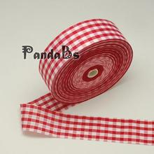 Gingham Ribbon Satin Ribbon, Tartan Ribbon, Nice for Party Decoration, White, 40mm