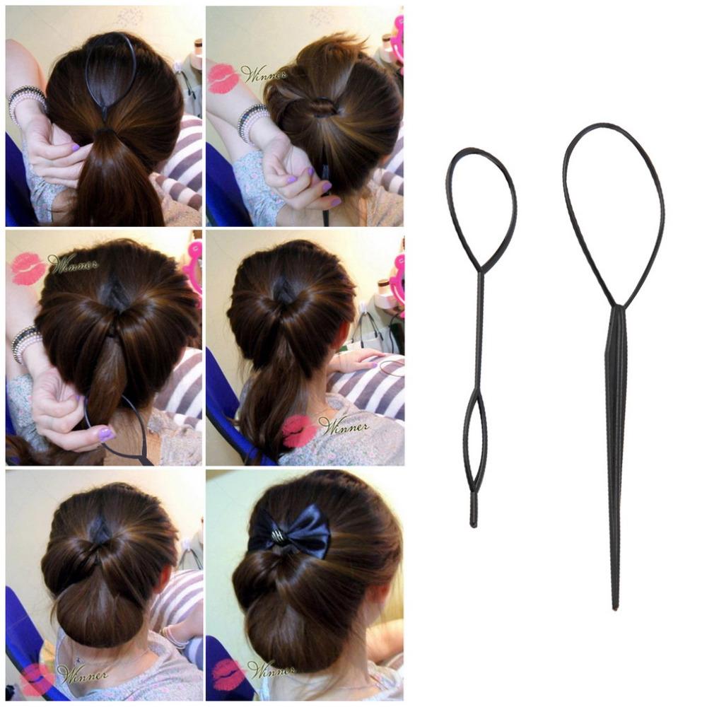 Причёски при помощи петли