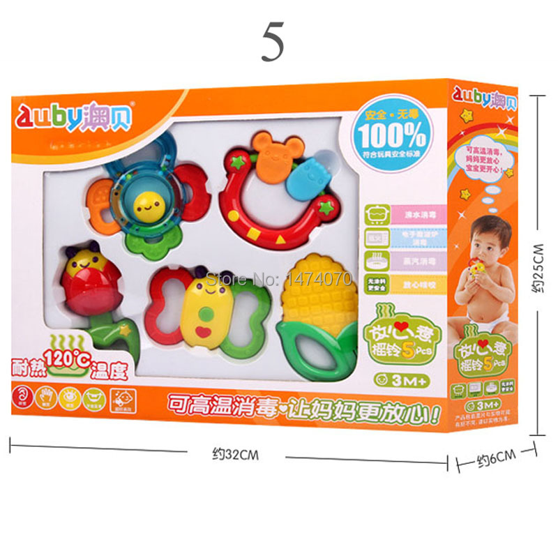Free Shipping Lovely Baby Bell Toy Product Cute Teeth Training Molar Safety Teether For Kids Chewing Practicing Gift Box Packing(China (Mainland))