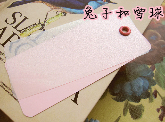 Double layer Bookmarks pearl parchment paper fresh 0.3 pink paragraph