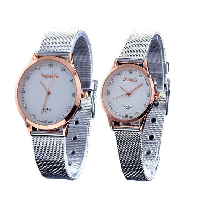 Women Quartz Wrist Watches Gold Silver Stainless Steel Watch Men Lovers Watch Gift for Lovers relogio