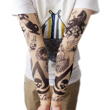 New Arrival Flexible Tattoo Sleeves Long Sleeve Free Size  One Peice Photo Color Drop Shipping HG-1810(China (Mainland))