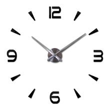 2016 new wall clock quartz living room diy clocks modern design watch horloge murale Acrylic mirror 3d stickers free shipping(China (Mainland))