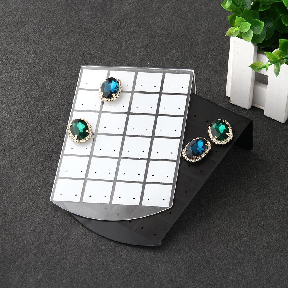 New Fashion 48 Hole Earrings Acrylic Set Ring Display Exhibitor Rack Stand Organizer Holder Showcase Black(China (Mainland))