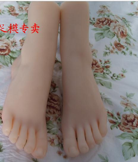 sex product solid silicone doll female Pussy Feet Fake women feet model clones socks shown #3709(China (Mainland))