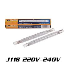 Haute qualité New 10 Pcs J118 500 W 220 V - 240 V ampoules halogènes linéaires de sécurité lampes phares au xénon R7S 118 mm livraison gratuite(China (Mainland))