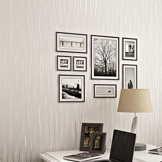Buy non woven wallpaper tv backdrop of Plain white wallpaper for walls