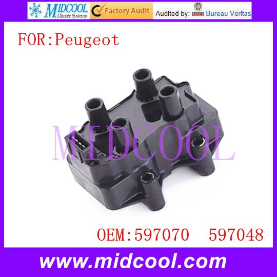 Новый катушка зажигания использования OE NO. 597070, 597048 для Peugeot