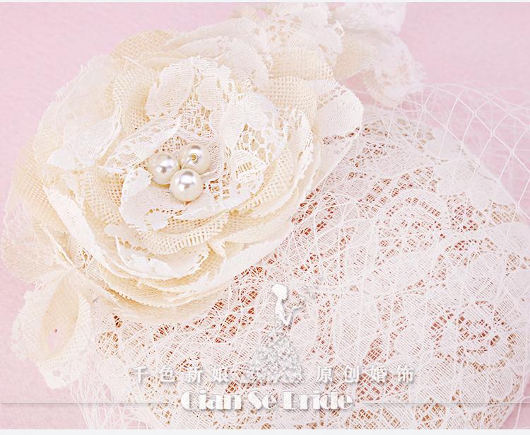 2015 Modern High End Bride Hats Wedding Veil Netting Face Floral Women Hair Wear Photograph Bridal