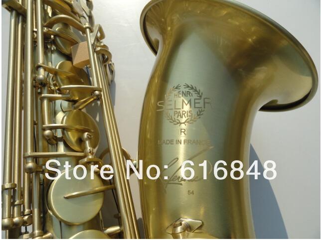 -- Henri selmer B flat Tenor saxophone instruments Antique Copper Simulation Sax R54 bronze case,mouthpiece,gloves - wutingting wu's store