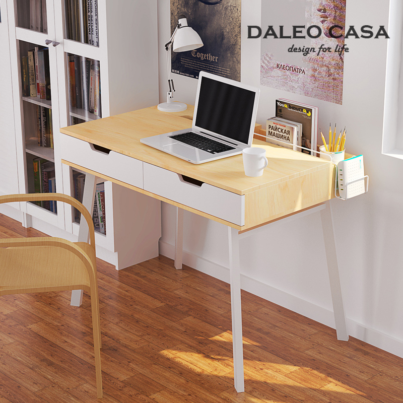 Nordic creative home design desk drawers ikea furniture minimalist desk study desk computer desk Creative home furniture and design