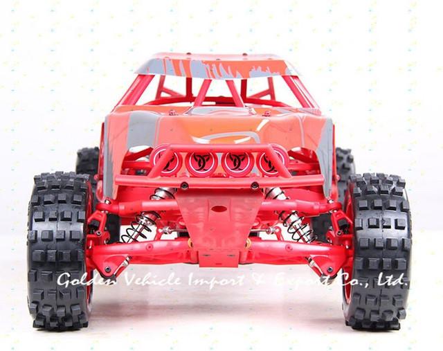 baja truck 1 5 rc 305ft rouge prototype de voiture arceau en acier plaque de nylon commande. Black Bedroom Furniture Sets. Home Design Ideas