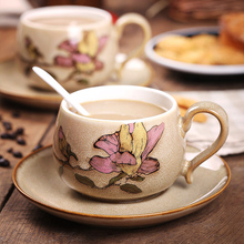 Full hand Coffee cup suit European classical Chinese Style Ceramic Pitcher feeding spoon