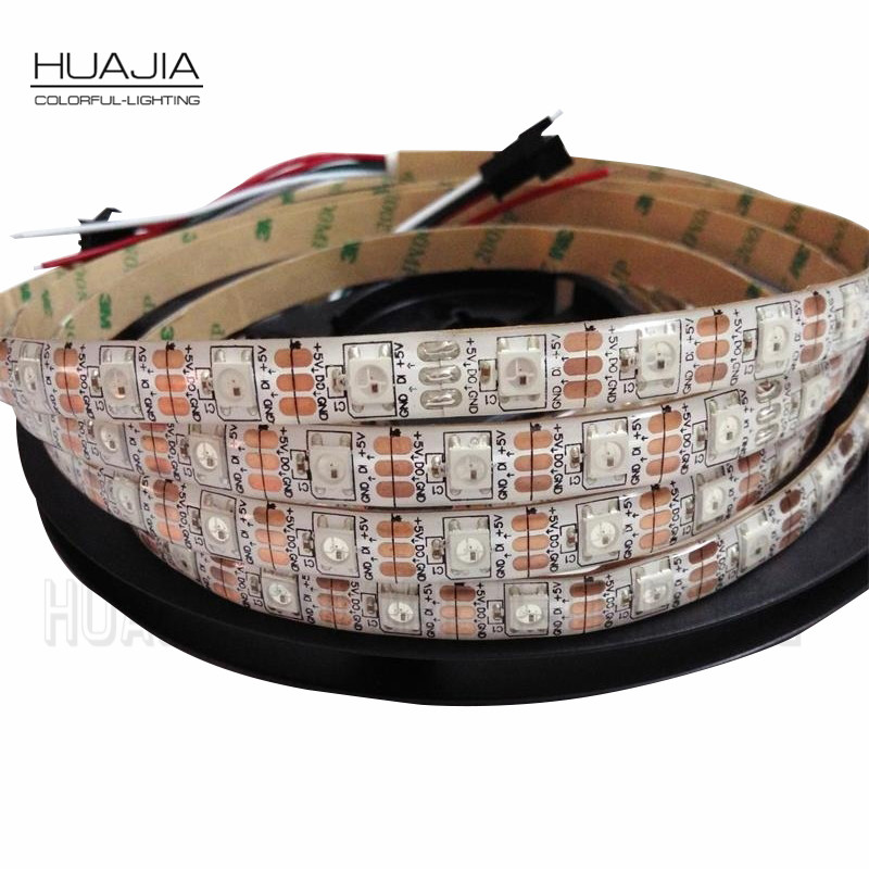1M/2M/5M WS2812B 5V RGB Addressable LED Strip Black&White PCB 30/60/144 leds/m 2811 IC Built-in 5050LED IP30/IP65/IP67 Pixels