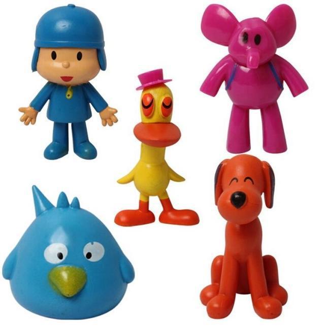 5PCS/Lot Pocoyo Figures Toy Doll Pocoyo Plastic Toy Set for Birthday Gift(China (Mainland))