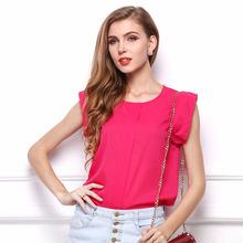 Women Chiffon Blouse Shirt Ruffle Elegant New 2016 Woman Fashion Clothes Casual Blouses Ladies Top Blusas Camisas Femininas